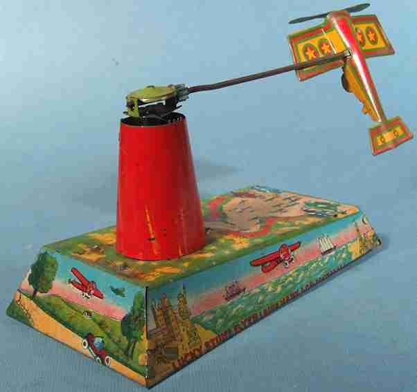 marx louis stunt flyer lucky blech flugzeugspielzeug uhrwerk