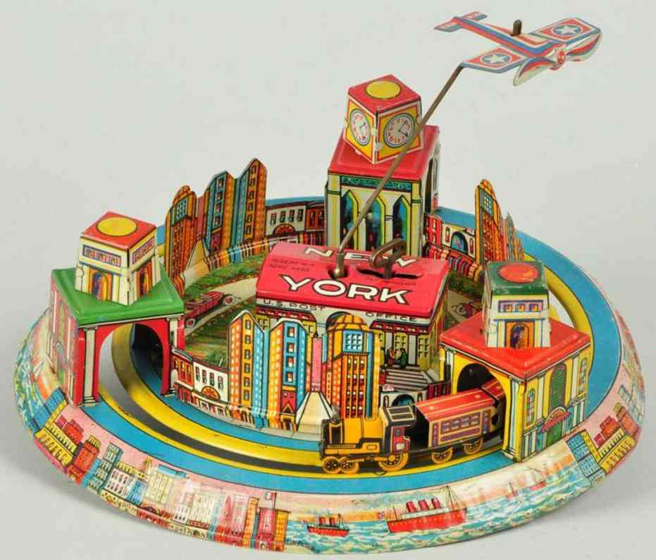 marx louis tin toy honeymoon express new york