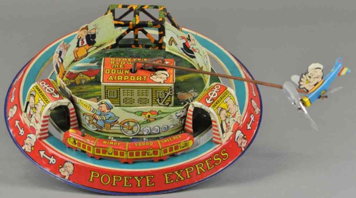 marx louis blech spielzeug popeye express uhrwerk