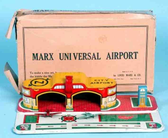 marx louis blech spielzeug universal airport flughafen