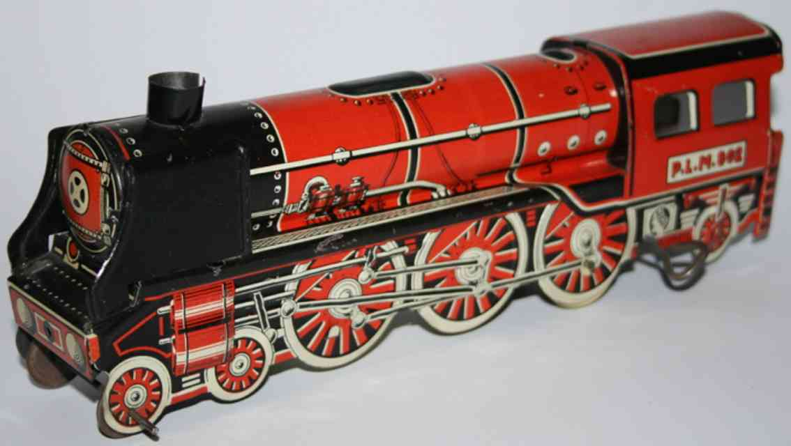 memo plm 802 tin toy engine locomotive