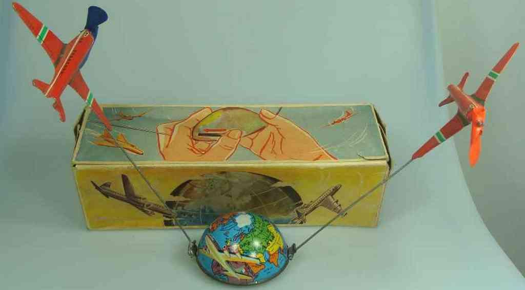 niedermeier philipp 560 blech spielzeug flugspiel globus mit uhrwerk