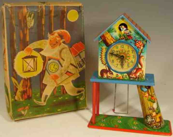 niedermeier philipp 750 tin toy cuckoo-clock swing clockwork