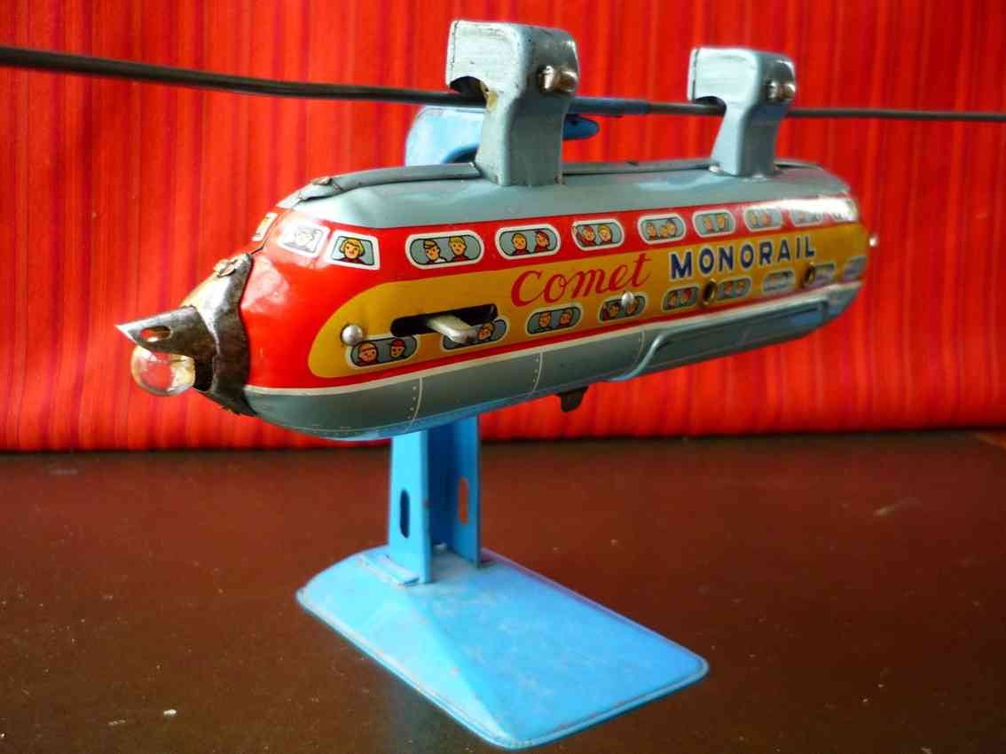 nomura toys tin battery operated comet space monorail robot