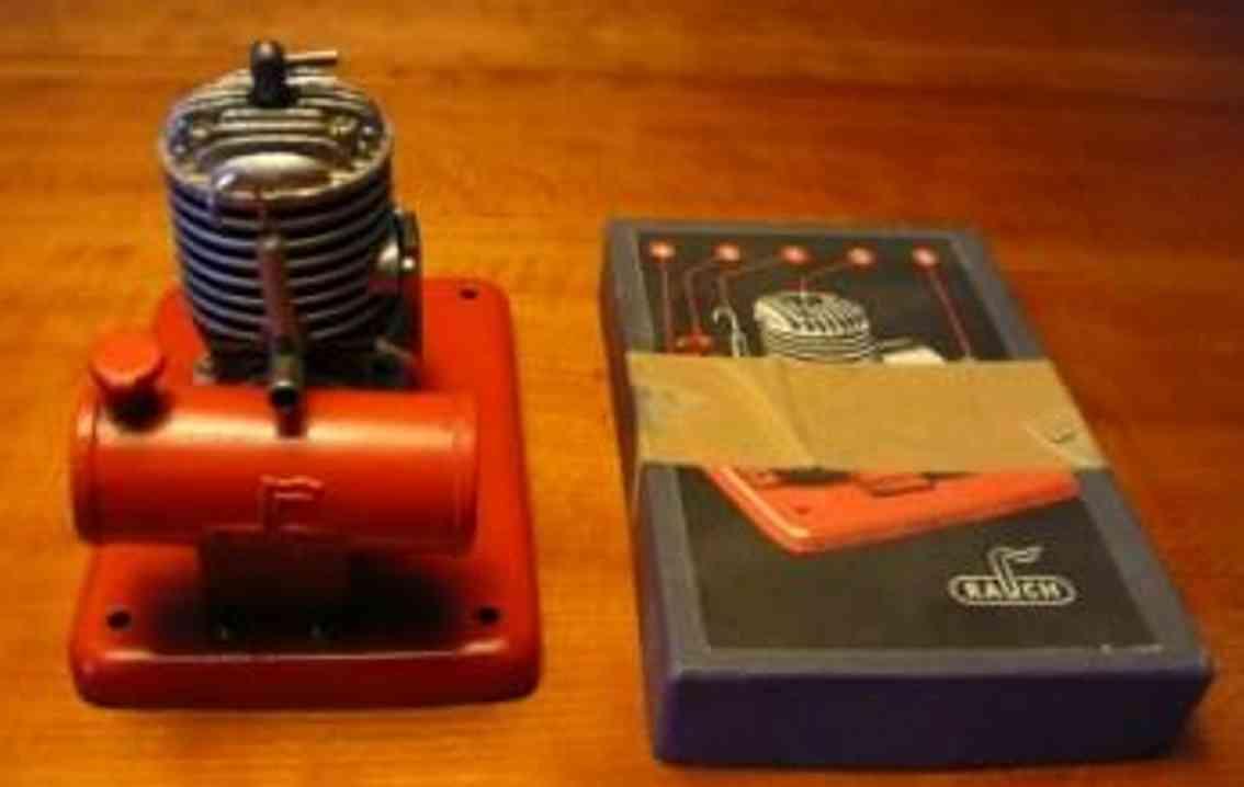 rauch ernst tin toy diesel engine on sheet base, cylinder and flywheel from die