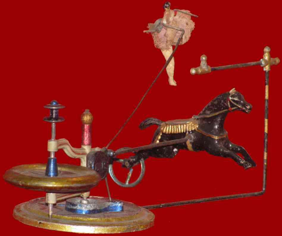 charles rossignol blech spielzeug spielzeug mit pferd und ballerina die sich drehen