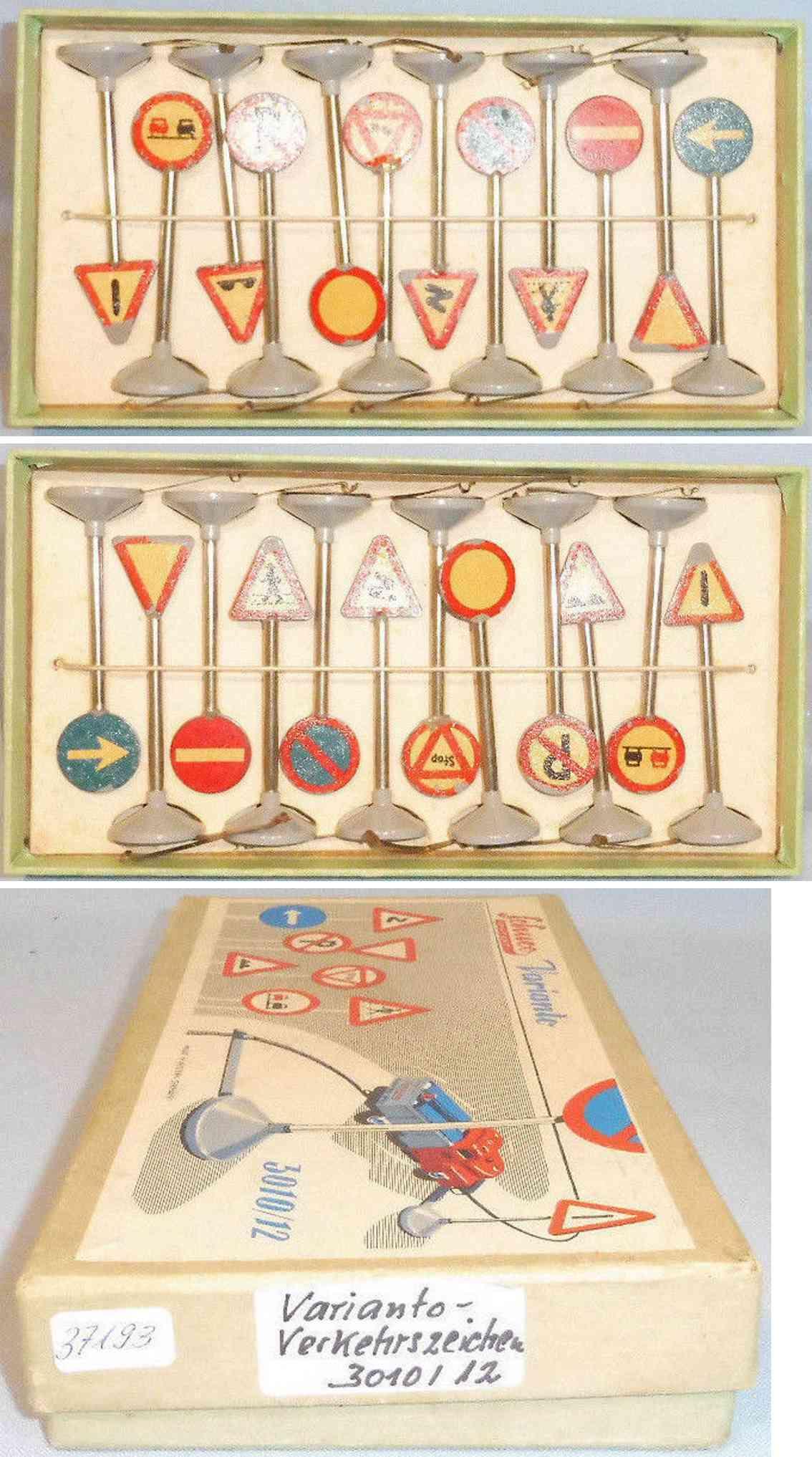 schuco 3010/12 blech spielzeug schilder set varianto verkehrszeichen