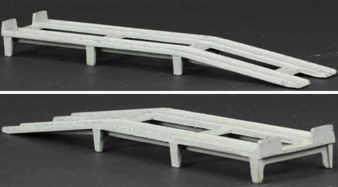 skoglund & olson cast iron toy ramp grey