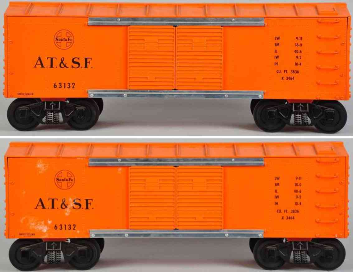 Smith-Miller Train car made of pressed steel in orange