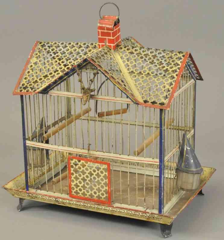 stevens & brown blech spielzeug vogelkäfig