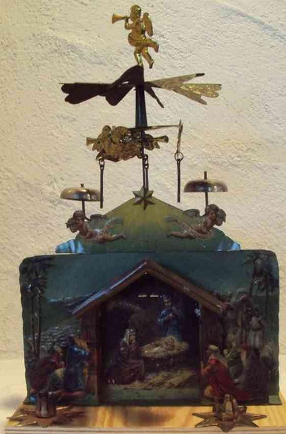 stock walter 2 1909 tin toy crib with angel bells