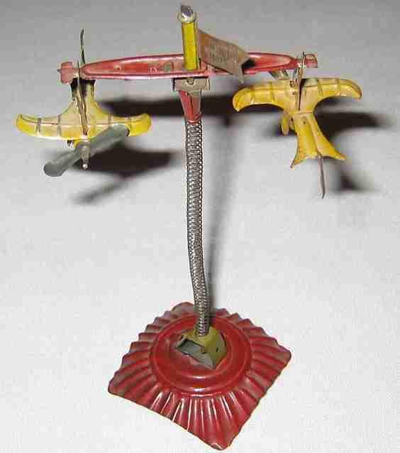 technofix 100 blech spielzeug spiralflieger staender roter sockel