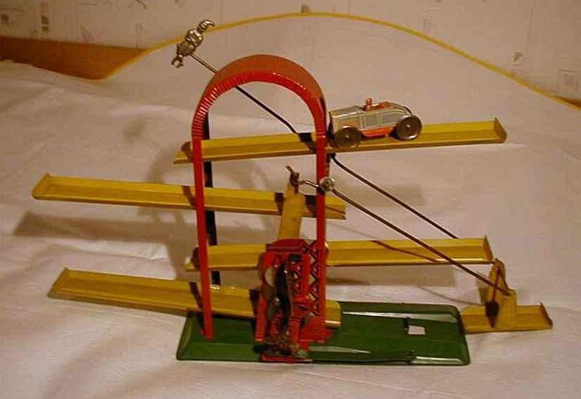 technofix 203b blech spielzeug stufenbahn mit uhrwerk