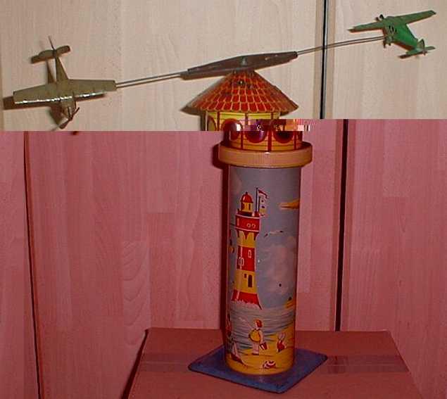 Technofix 215LG Leuchtturm mit Batterie und zwei Flugzeugen