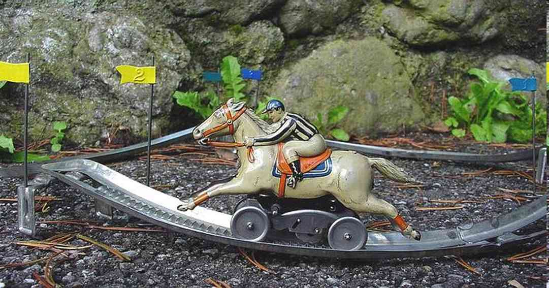 Technofix 224/1 Pferderennspiel mit 1 Pferd