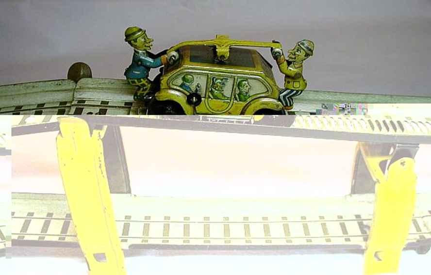 technofix 237 blech spielzeug draisinenbahn