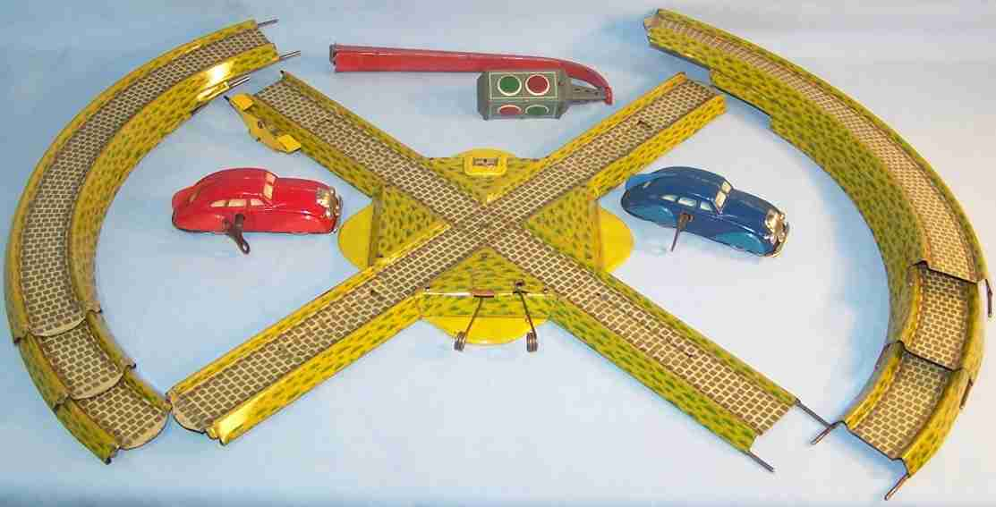 technofix 239 blech spielzeug verkehrsautobahn picadilly ampelbahn