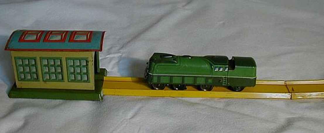 Technofix 242 Rangierende Lokomotive mit Bahnhof