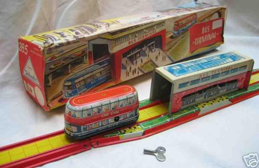 technofix 285 blech spielzeug verwandlungsbahn terminal doppeldeckerbus