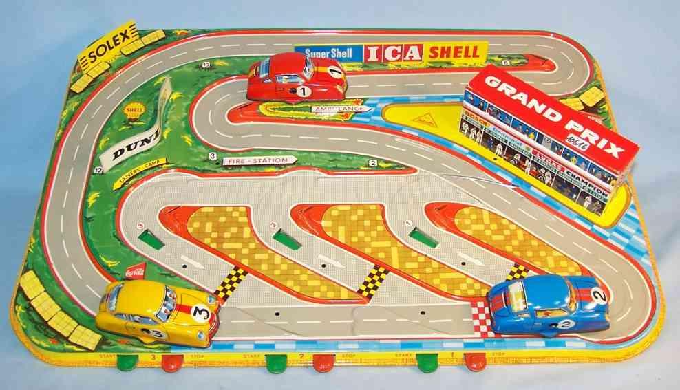 technofix 302 blech spielzeug grand prix mit 3 autos