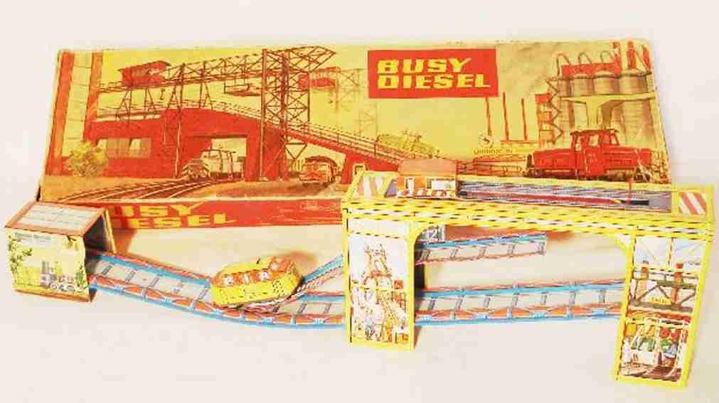 technofix 314 blech spielzeug busy diesel blechbahn mit uhrwerk