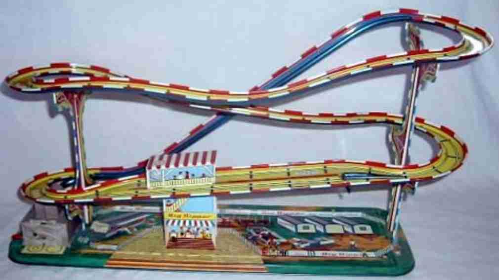 technofix 316 blech spielzeug achterbahn batterie drei autos