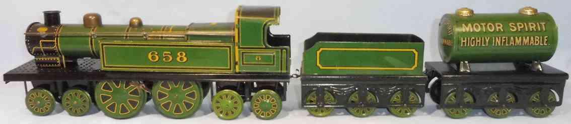 tippco 658 blech spielzeug lokomotive mit tender und tankwagen bodenlauefer