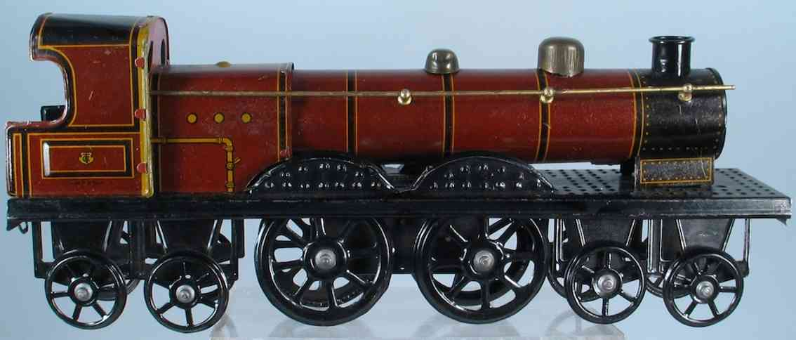 tippco blech spielzeug dampflokomotive mit uhrwerk, aufgezogen fährt die lok über d
