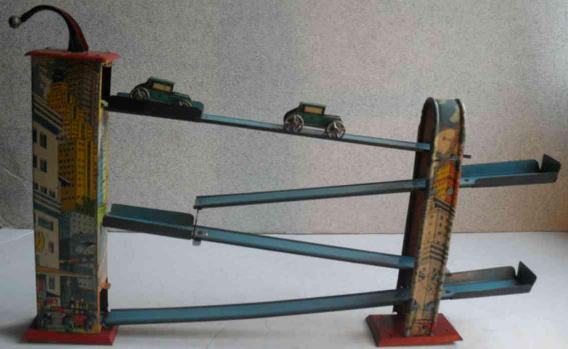 unknown blech spielzeug autospiel aus guß mit zwei blechautos mit bleirädern, das au