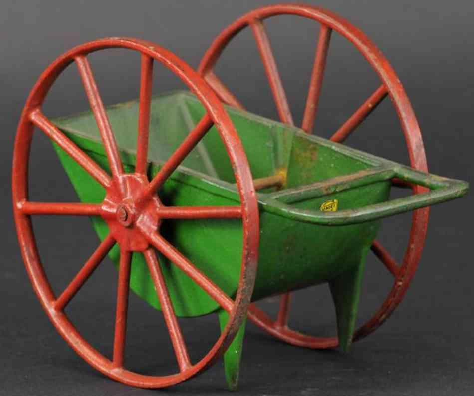 vindex cast iron toy lansing cement bucket red green