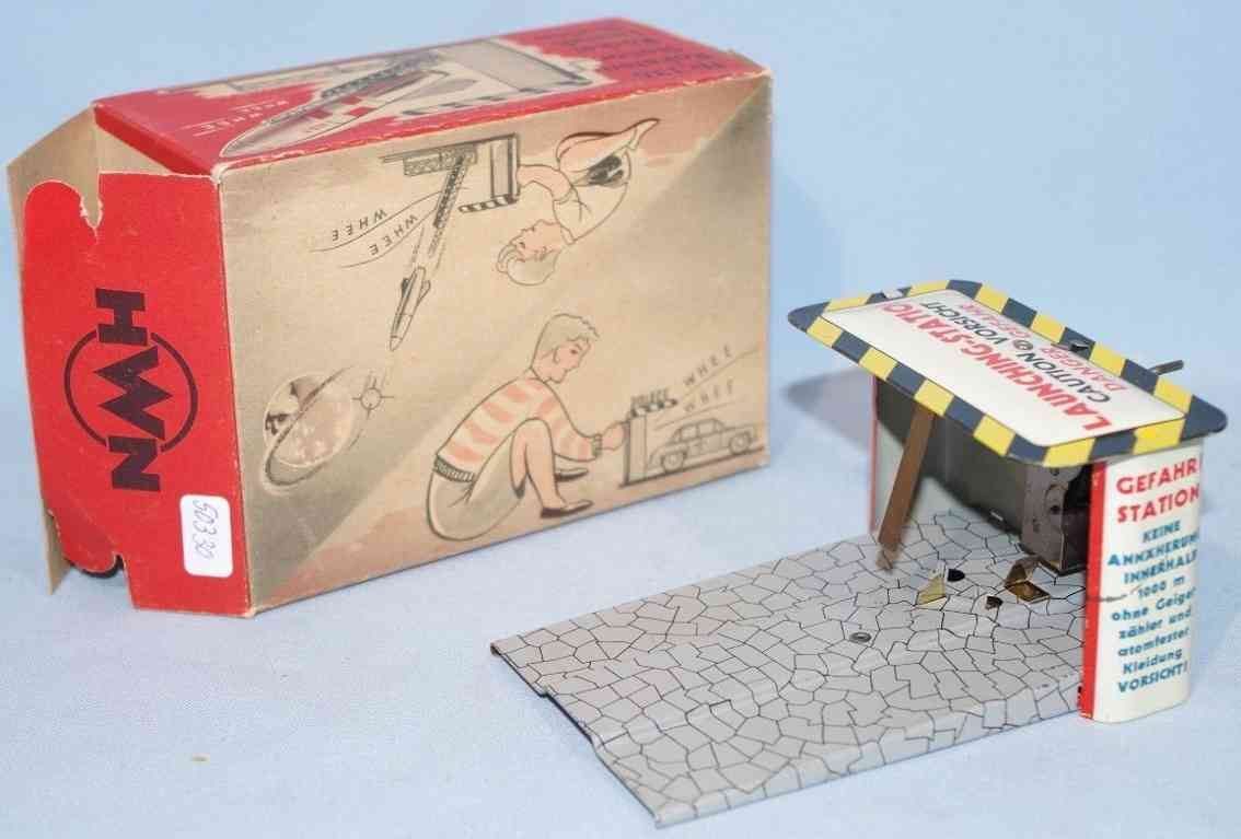 wimmer heinrich hwn 136 tin toy launcher for rocket or cars