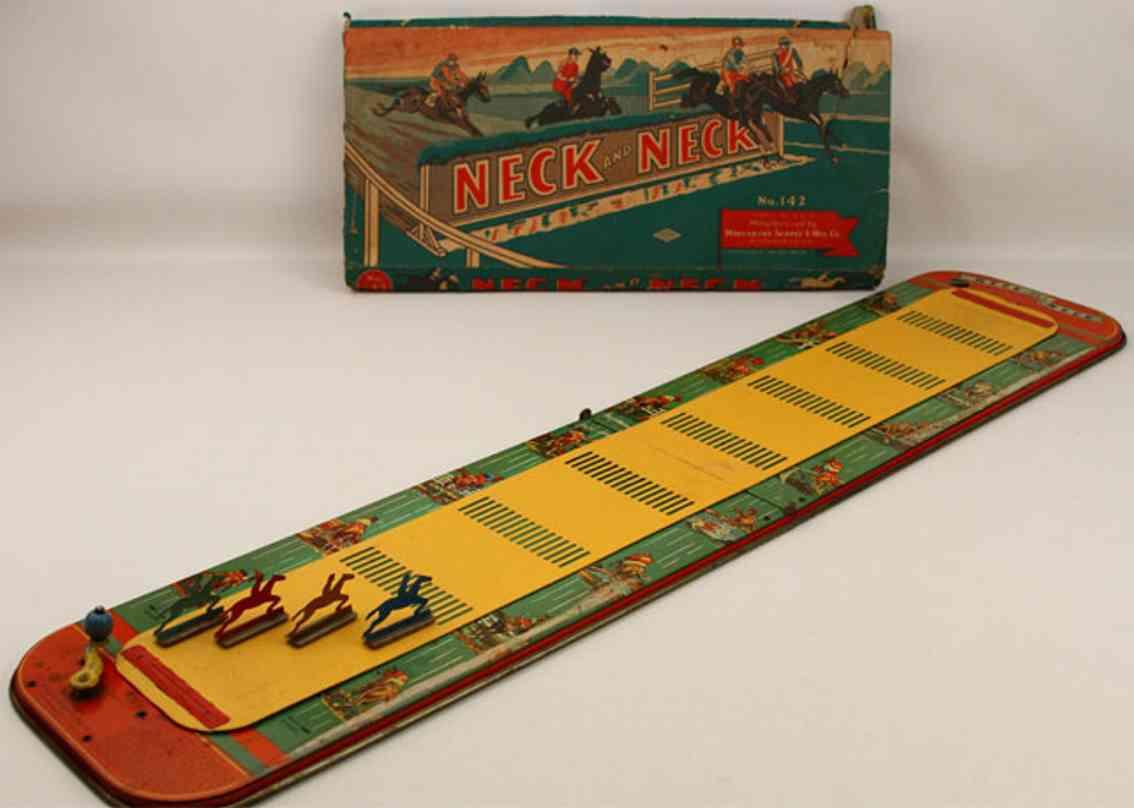 wolverine 142 blech spielzeug neck und neck pferderennspiel