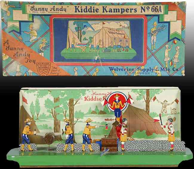 wolverine 66a blech spielzeug sunny andy kiddie camper uhrwerk