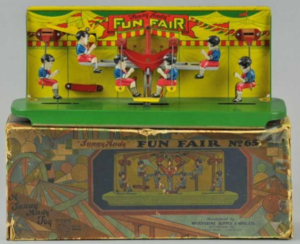 wolverine 65 blech spielzeug sunny andy fun fair