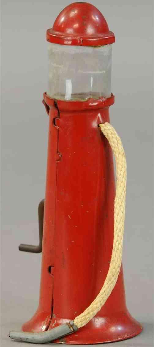 wyandotte cast iron toy gas pump in red