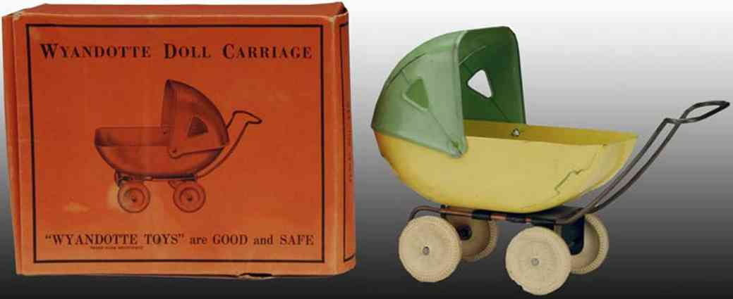 Wyandotte Pressed Steel Doll Carriage