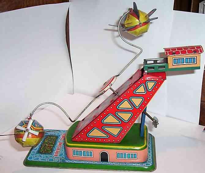 yonezawa blech spielzeug zeppelin-circus-fahrt