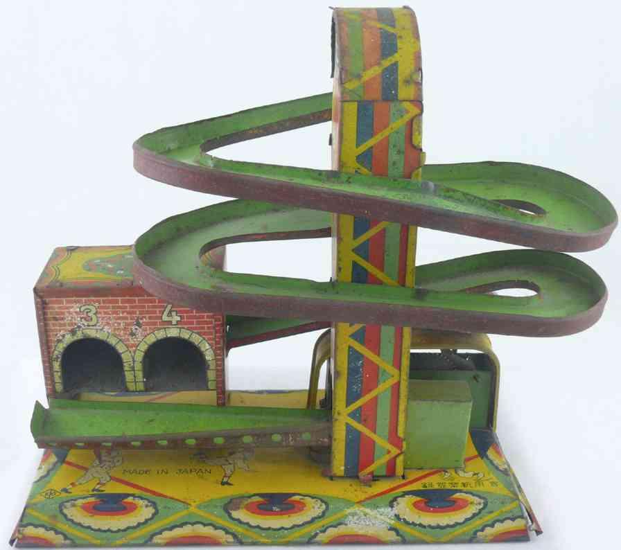 Yoshiya Japanese tin windup roll toy