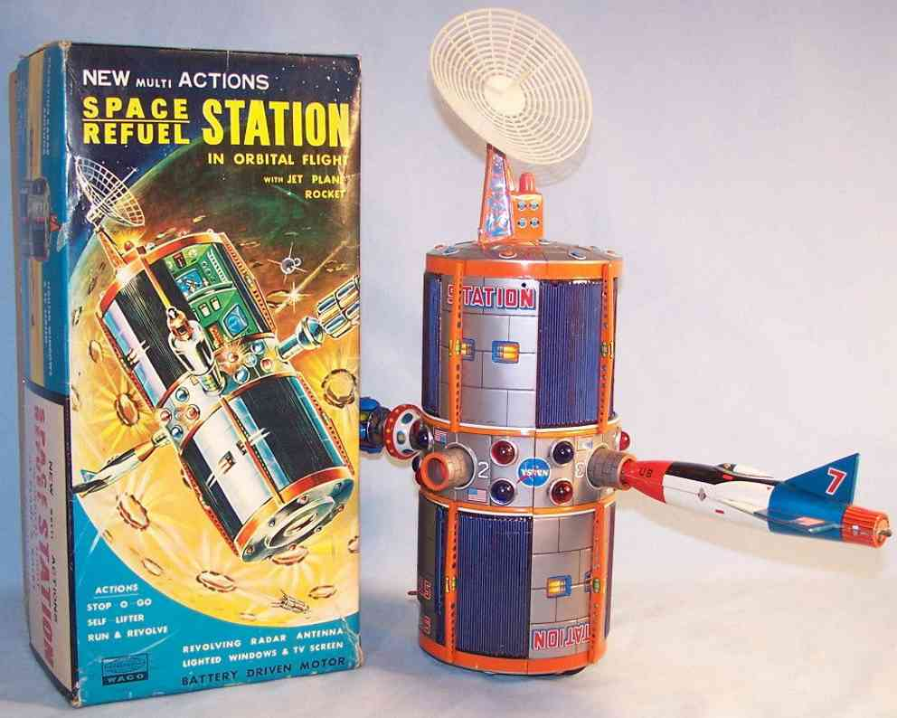 waco spare refuel station tin toy plastic