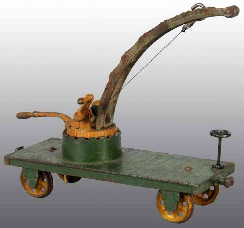Arcade cast iron Crane  car