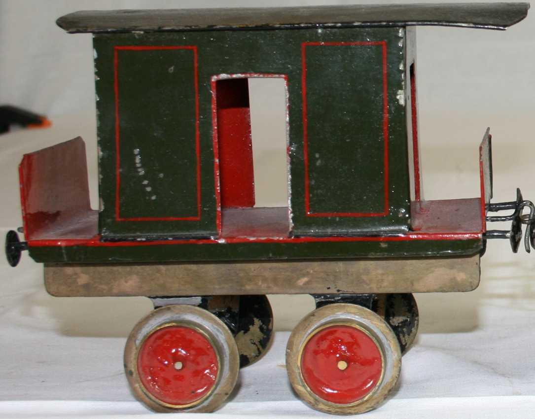 bing railway toy floor train baggage car green red