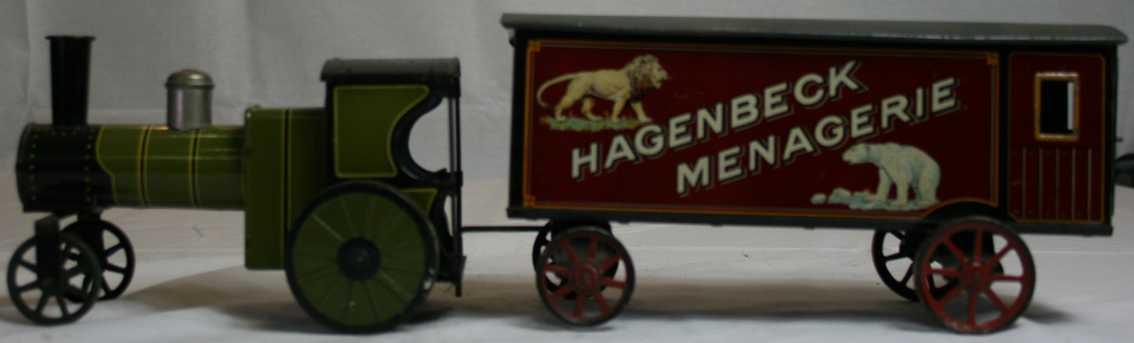 bing railway toy floor train hagenbeck menagerie steam engine animal cage