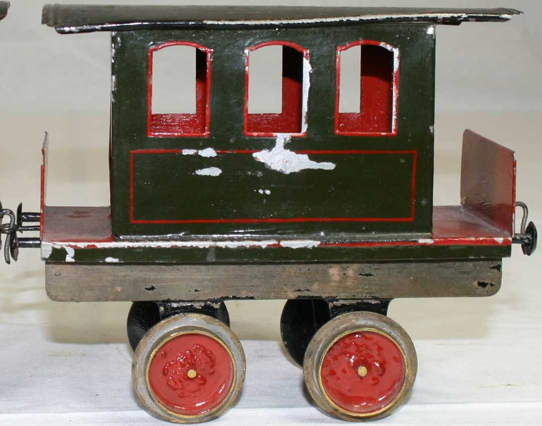 bing railway toy floor train passenger car green red