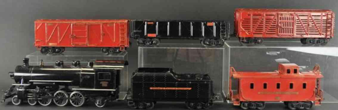 buddy l spielzeug eisenbahn bodenlaeufer eisenbahnset für draußen, lokomotive mit tender, ohne messin