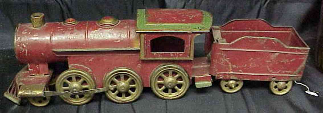 dayton railway toy floor train hill climber with friction dirve tin train and coal tender w