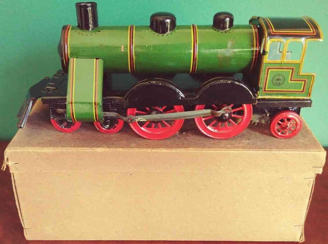 eberl hans Lokomotive spielzeug eisenbahn bodenlaeufer seltene große lokomotive als bodenläufer im originalkarton,