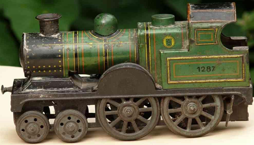 gunthermann 1287 spielzeug eisenbahn bodenlaufer uhrwerk-lokomotive