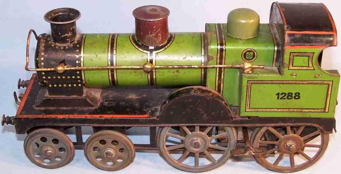 gunthermann 1288 spielzeug eisenbahn bodenlaeufer lokomotive