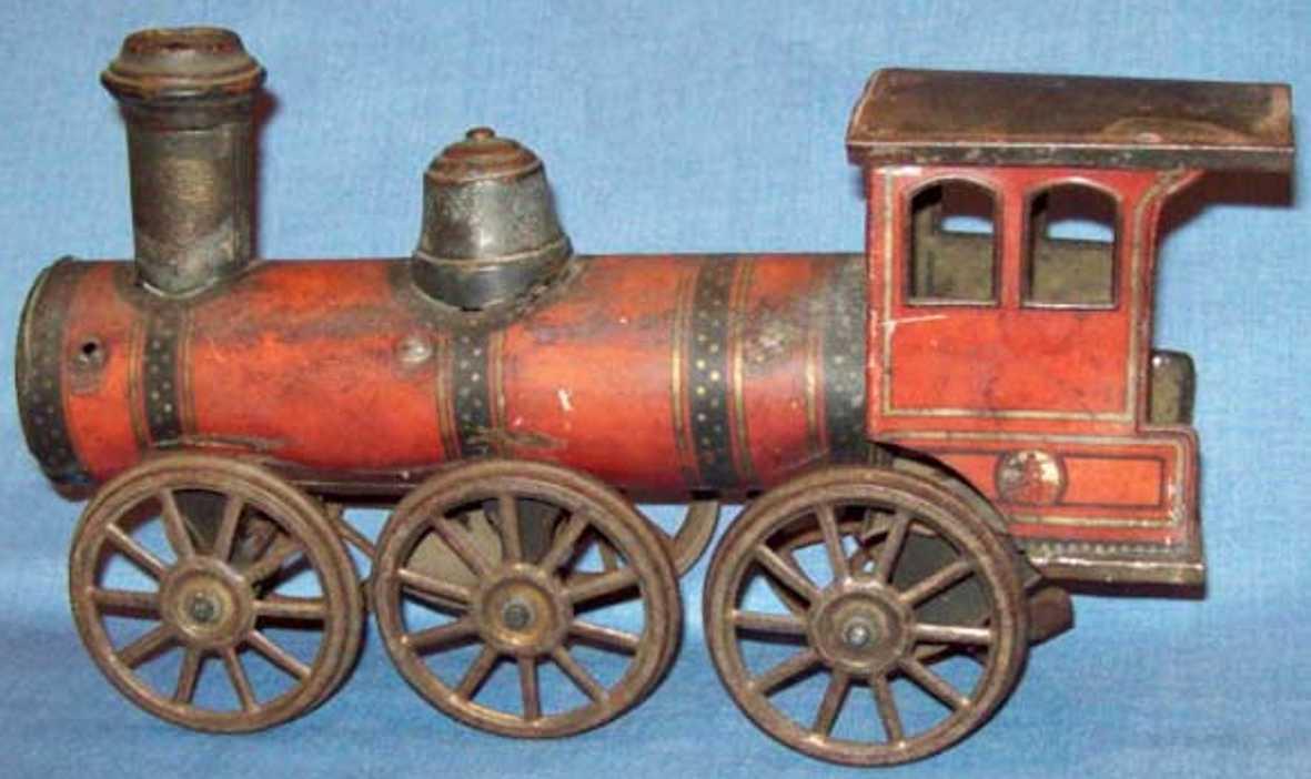 gunthermann spielzeug eisenbahn bodenlaufer lokomotive mit uhrwerk