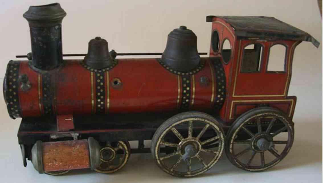 gunthermann spielzeug eisenbahn bodenlaufer lokomotive mit tender